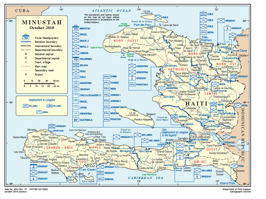 Foreign Relations Haiti Net - Map of haiti in relation to us